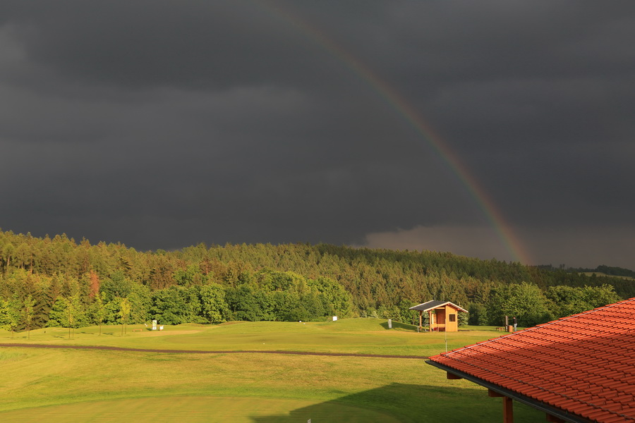 Rainbow at the Olomouc Golf Course
